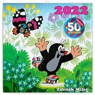 Poznámkový kalendář Krteček 2022, s 50 samolepkami
