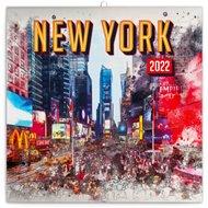 Poznámkový kalendář New York 2022