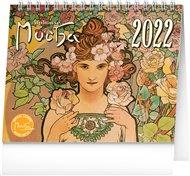 Stolní kalendář Alfons Mucha 2022