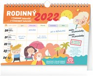 Týdenní rodinný plánovací kalendář s háčkem 2022