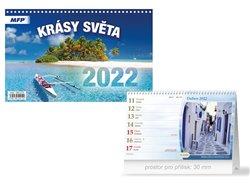 Kalendář 2022 stolní Krásy světa
