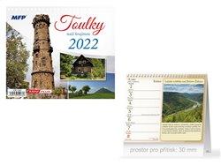 Kalendář 2022 stolní mini Toulky naší krajinou