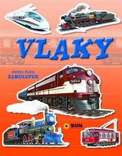 Vlaky. kniha plná samolepek