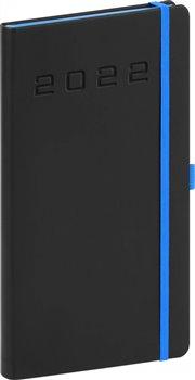 Kapesní diář Nox 2022, černý-modrý