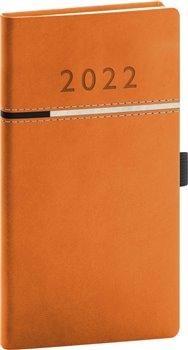 Kapesní diář Tomy 2022, oranžovočerný