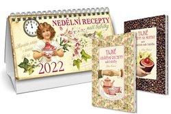 Obálka titulu Stolní kalendář nedělní menu 2022 + Tajné recepty na muffiny + Tajné návštěvní recepty