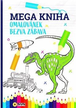 Mega kniha omalovánek-Modrá