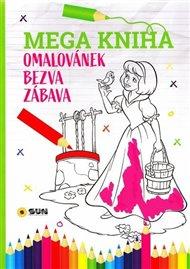 Mega kniha omalovánek-Růžová