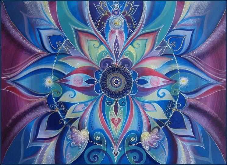 """Slovo """"mandala"""" pochází ze staroindického jazyka sanskrtu a můžeme jej volně přeložit jako kruh. Kruhové vzory mandal jsou vyjádřením celistvosti života, po níž touží všechny lidské bytosti. Mandaly nám připomínají, že jejich tvůrci – lidé – jsou nedílnou součástí širšího Celku – Kosmu neboli Universa. Knihy mandal vydává u nás např. nakladatelství Bhakti."""