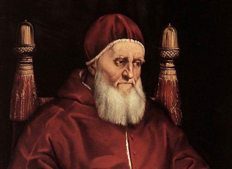 Českému čtenáři důvěrně známý Alejandro Jodorowsky má v úmyslu zachytit bouřlivé dějiny Vatikánu v patnáctém a raném šestnáctém století ve volné trilogii, kterou započal sérií Borgia a v níž pokračuje Papežem ukrutným. Také pro tento příběh ze středověké Itálie využil služeb italského kreslíře Thea. e srpen roku 1503 a umírá papež Alexandr VI., vlastním jménem Rodrigo Borgia. To je ta pravá chvíle pro zapřisáhlé nepřátele Borgiů, rod della Rovere.