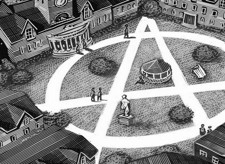 Anarchismus je vzájemnost, neboli spolupráce bez hierarchie nebo státní kontroly